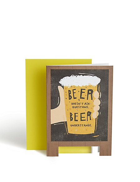 Beer Questions Birthday Card