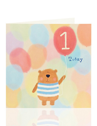 1st Bear Kids Birthday Card Home