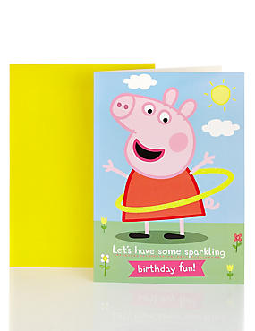Peppa Pig™ Sparkling Birthday Card