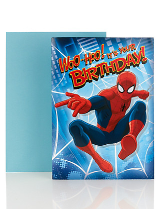 Spider-Man™ Fold Out Birthday Poster Card Home