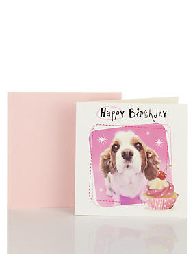 Dog Cupcake Birthday Card
