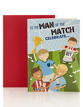 Birthday Boy Man of the Match Birthday Card