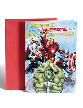 Avengers Birthday Card