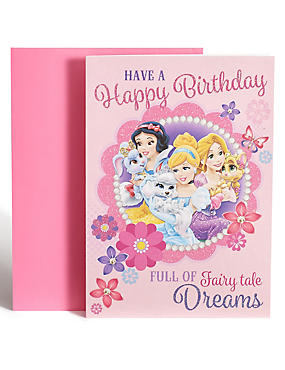 Disney Princesses Colour-In Birthday Card