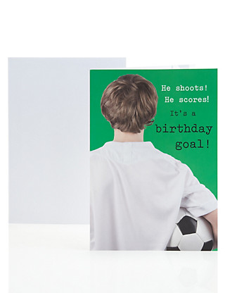 Football Sticker Birthday Card Home