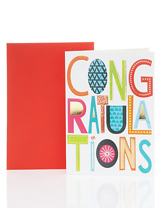 Contemporary Text Congratulations Card Home