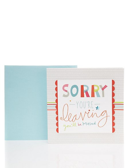 Luxury Leaving Card