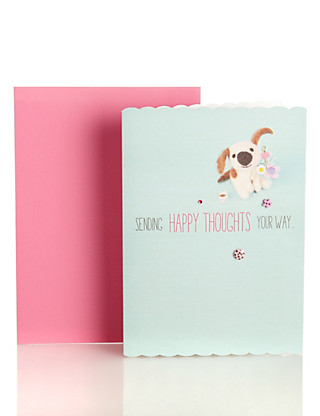 Cute Dog Thinking of You Greetings Card Home