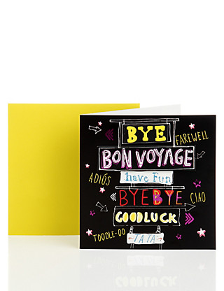 Bon Voyage Greetings Card Home
