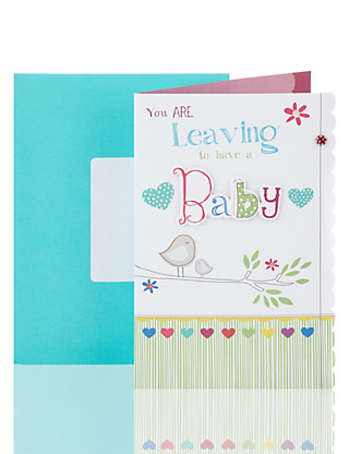 Leaving to Have a Baby Greetings Card Home