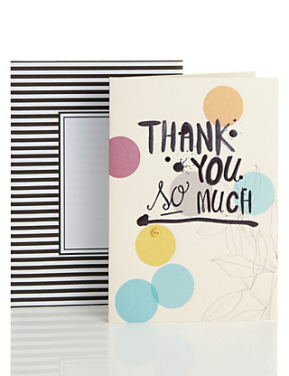 Thank You Spots & Button Greetings Card Home