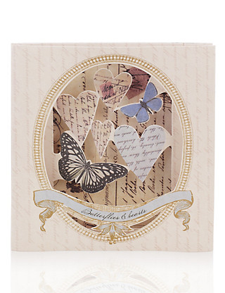 3D Concertina Butterflies Blank Greetings Card Home