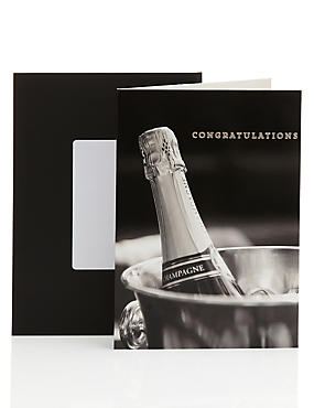 Photographic Champagne Congratulations Card