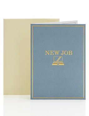 Embossed New Job Congratulations Card