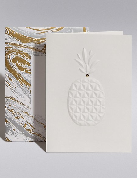 Embossed Pineapple Blank Card