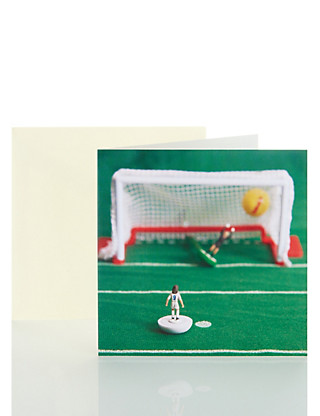 Table Football Blank Card Home