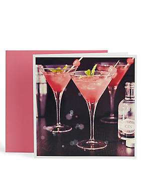 Photographic Cocktail Blank Card