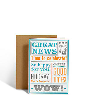 Great News Greetings Card