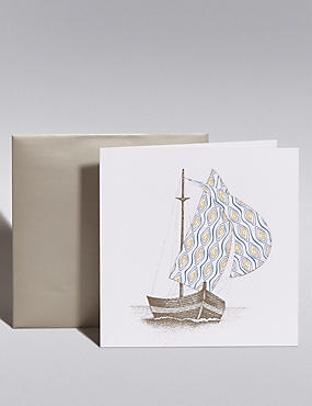 Pastel Yacht Blank Card