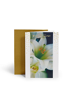 Photographic Lilies Sympathy Card