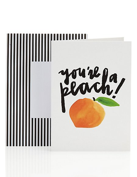 Everything's Peachy Blank Encouragement Card