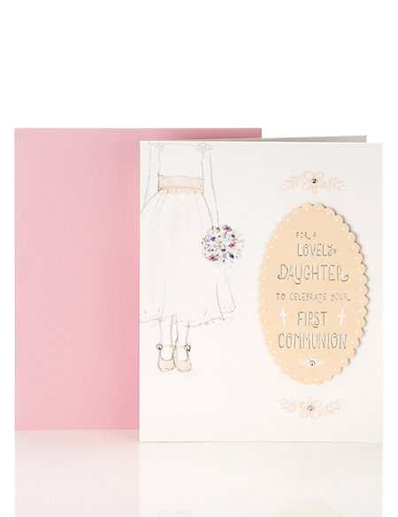 Lovely Daughter Communion Card