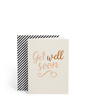 Flitter Script Get Well Soon Card