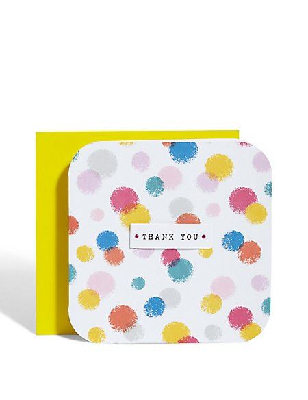 Dotted Thank You Card