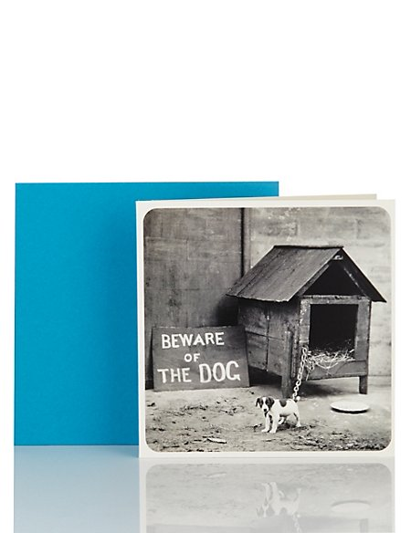Little LAUGHS Beware of The Dog Blank Card