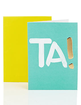 Ta! Thank You Card