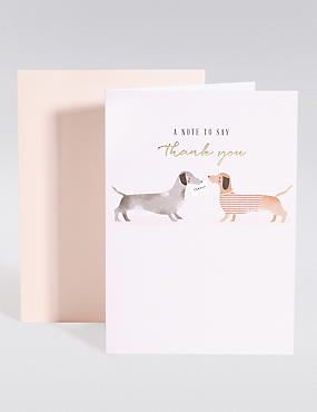 Sausage Dogs Thank You Card
