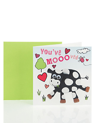 You've Mooved Greeting Card Home