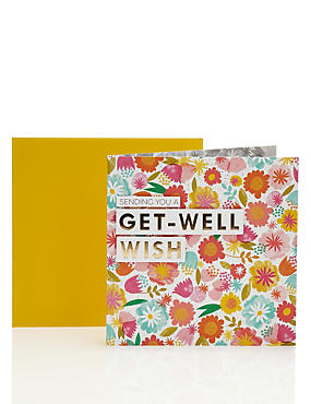 Contemporary Floral Get Well Card