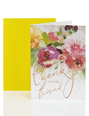 Friend Floral Thank You Card