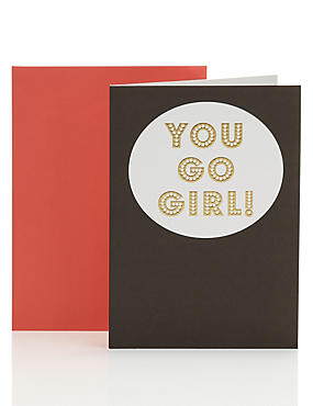 Contemporary Text Encouragement Card