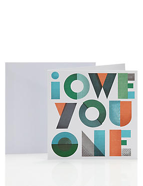 Contemporary Typographic Thank You Card