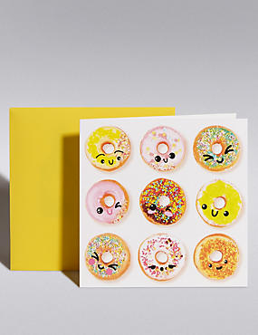 Smiley Doughnuts Blank Card