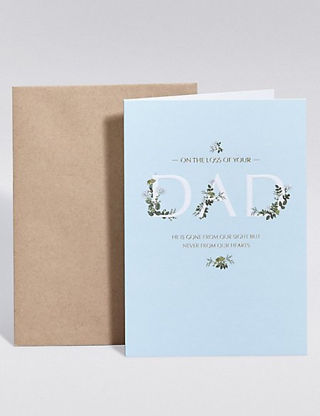 Loss of Dad Sympathy Card
