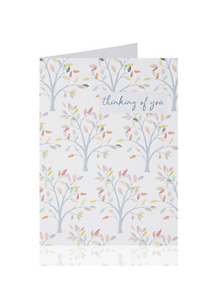Thinking of You Tree Greetings Card Home