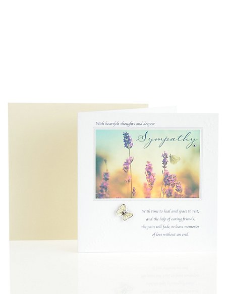 Heartfelt Thoughts & Deepest Sympathy Card