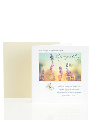 Heartfelt Thoughts & Deepest Sympathy Card Home