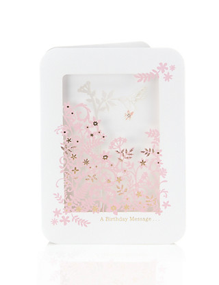 3D Floral Birthday Card Home