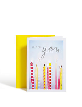 Photographic Candles Birthday Card