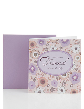 Classic Lilac Floral Friendship Birthday Card Home