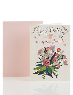 Marvellous Birthday Cards  Happy Birthday Greeting Cards  Ms With Exciting Glittered Bouquet Friend Birthday Card With Endearing Tivoli Gardens Jamaica Also Selby Gardens Wedding Prices In Addition Riverside Garden Resort And Notcutts Garden Centre Shirley As Well As Garden Of Unearthly Delights Additionally Garden Cafe From Marksandspencercom With   Exciting Birthday Cards  Happy Birthday Greeting Cards  Ms With Endearing Glittered Bouquet Friend Birthday Card And Marvellous Tivoli Gardens Jamaica Also Selby Gardens Wedding Prices In Addition Riverside Garden Resort From Marksandspencercom