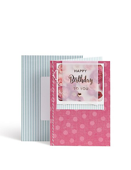 Designer Collection Pink Flowers Birthday Card