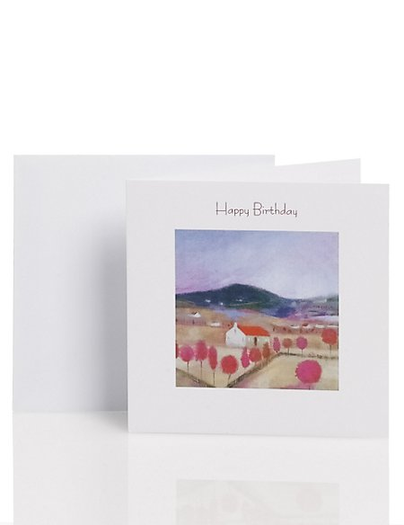 Classic Country Scene Birthday Card