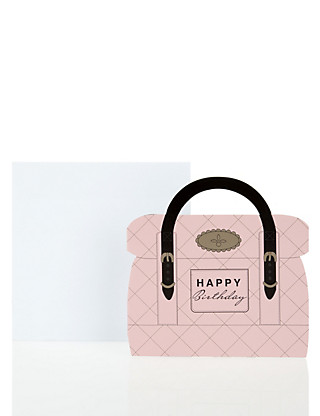 Pink Quilted Accessory Birthday Card Home