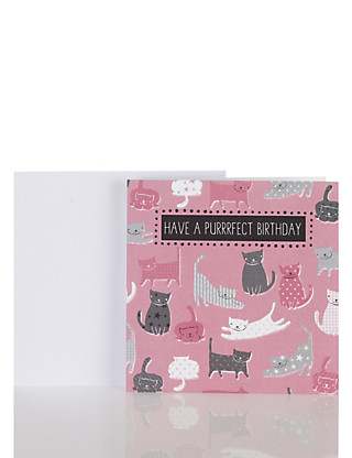 Cute Cats Birthday Card Home