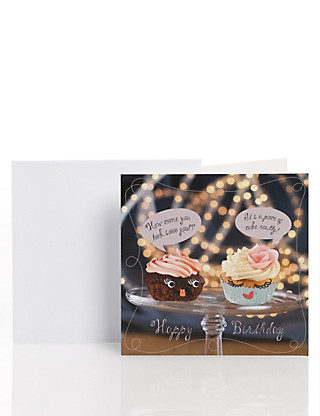 Fun Cupcake Card for Her Home